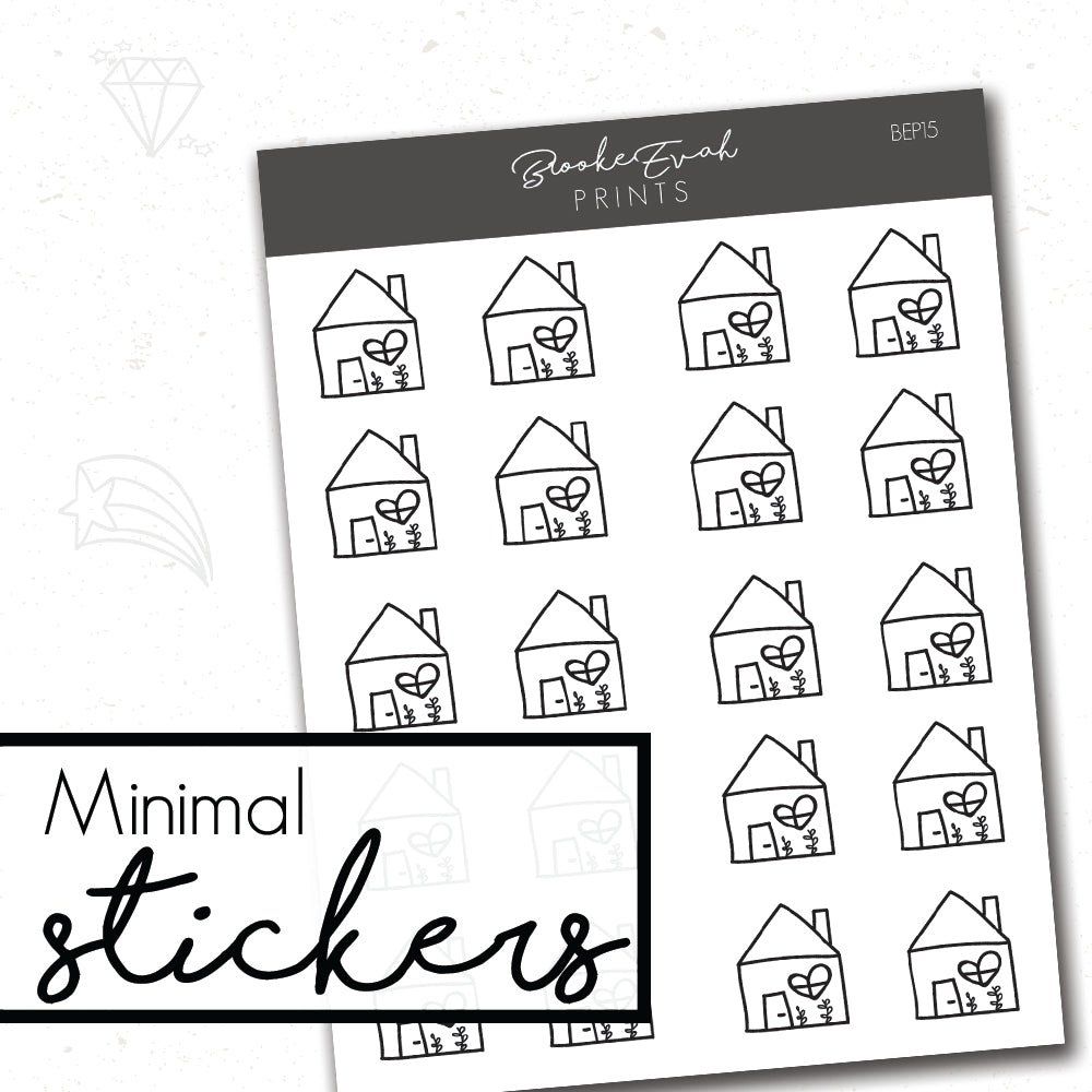 Minimal Home Stickers- BEP15 - BrookeEvahPrints