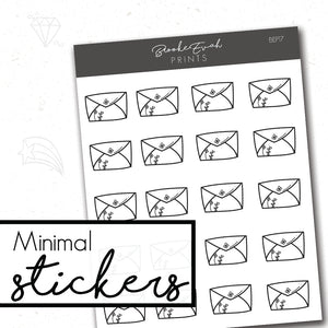 Minimal Mail Stickers- BEP17 - BrookeEvahPrints