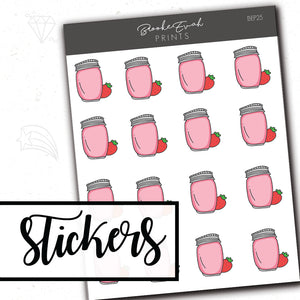 Smoothie Stickers - BEP25 - BrookeEvahPrints
