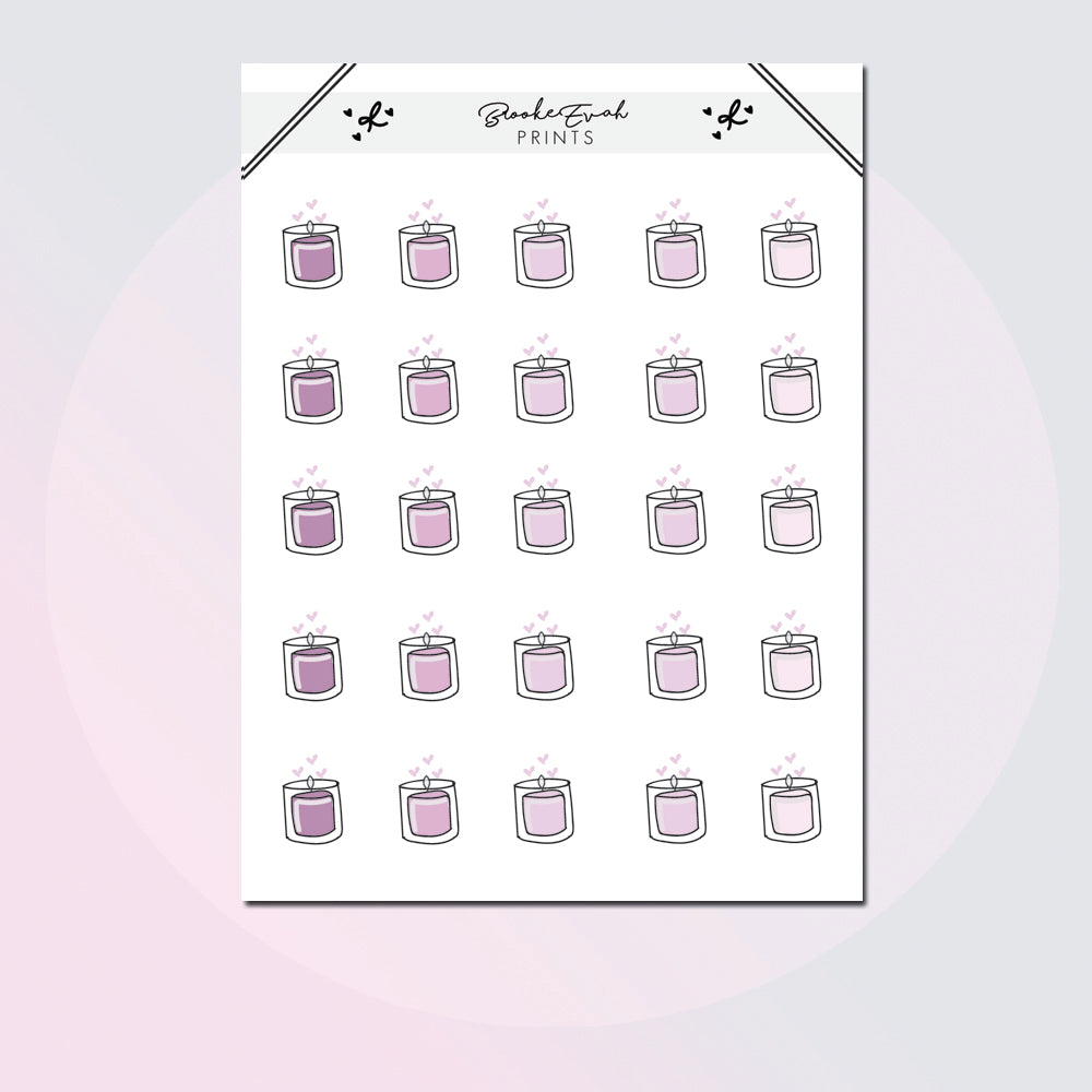 Candle Doodle Sheet -  BEP59