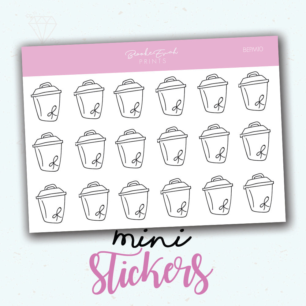 Minimal Trash Stickers - BEPM10 - BrookeEvahPrints