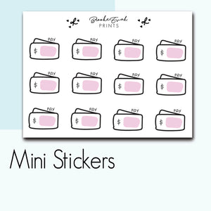 Mini Payment Stickers-  BEPM101