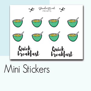 Mini Cereal Bowl Stickers-  BEPM107