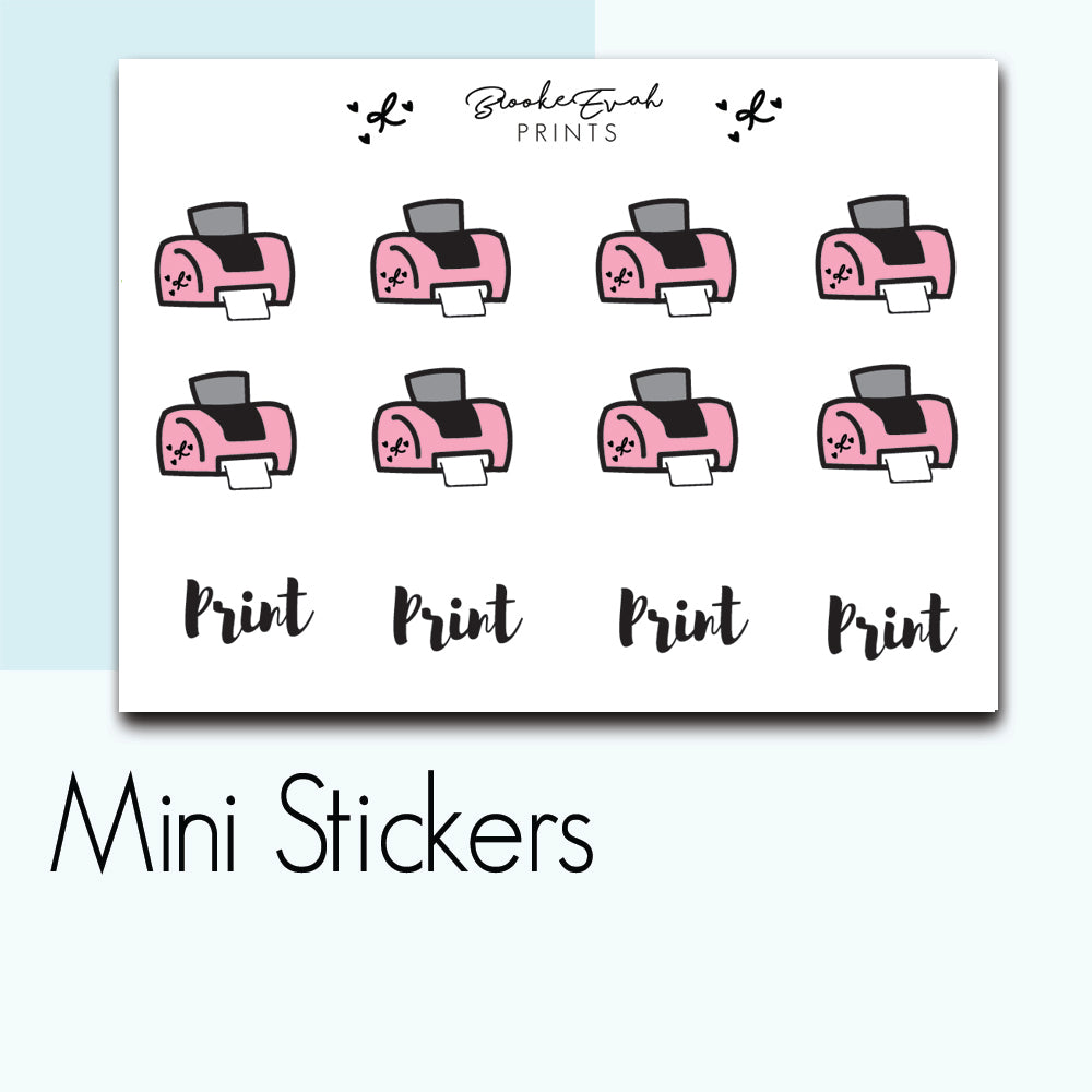 Mini Printer Stickers-  BEPM109