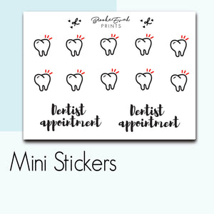 Mini Dentist Stickers-  BEPM112