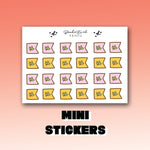 Fall Page Flag Stickers-  BEPM119