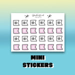 Winter Page Flag Stickers - BEPM120