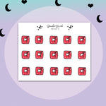 Mini Youtube Icon Stickers- BEPM137