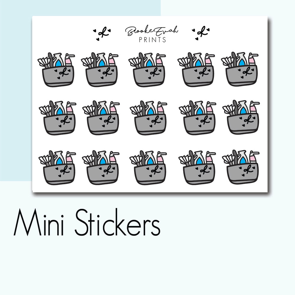 Mini Cleaning Caddy Stickers - BEPM14 - BrookeEvahPrints