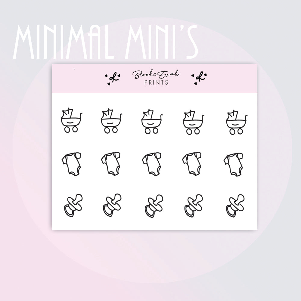 Mini Baby Doodle Stickers-  BEPM147