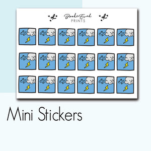 Mini Lightning Stickers-  BEPM19 - BrookeEvahPrints