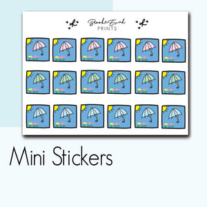 Mini Spring Stickers-  BEPM20 - BrookeEvahPrints