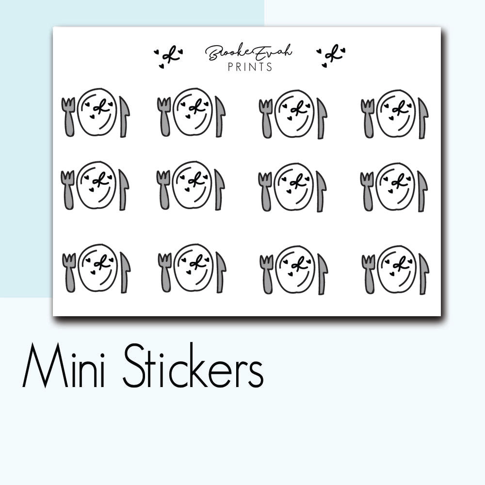 Mini Meal Plan Stickers-  BEPM21 - BrookeEvahPrints