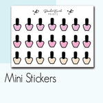 Mini Nail polish Stickers-  BEPM22 - BrookeEvahPrints