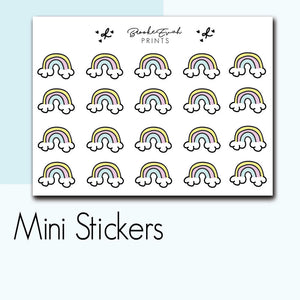 Mini Rainbow Stickers-  BEPM26 - BrookeEvahPrints