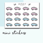 Mini Car Stickers-  BEPM43 - BrookeEvahPrints