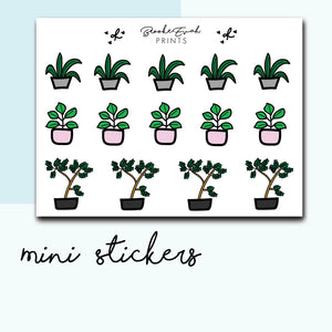 Mini Plant Stickers-  BEPM44 - BrookeEvahPrints