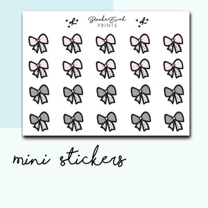 Mini Bow Stickers-  BEPM68 - BrookeEvahPrints