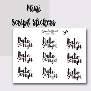 Mini Date Night Stickers-  BEPM77