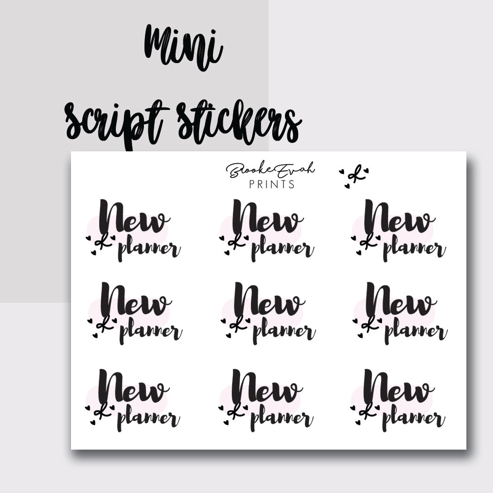 Mini New Planner Stickers-  BEPM80