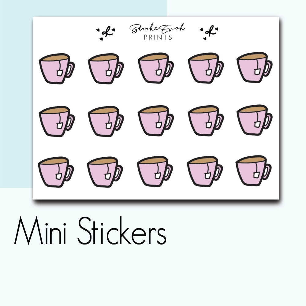 Mini Tea Stickers-  BEPM87