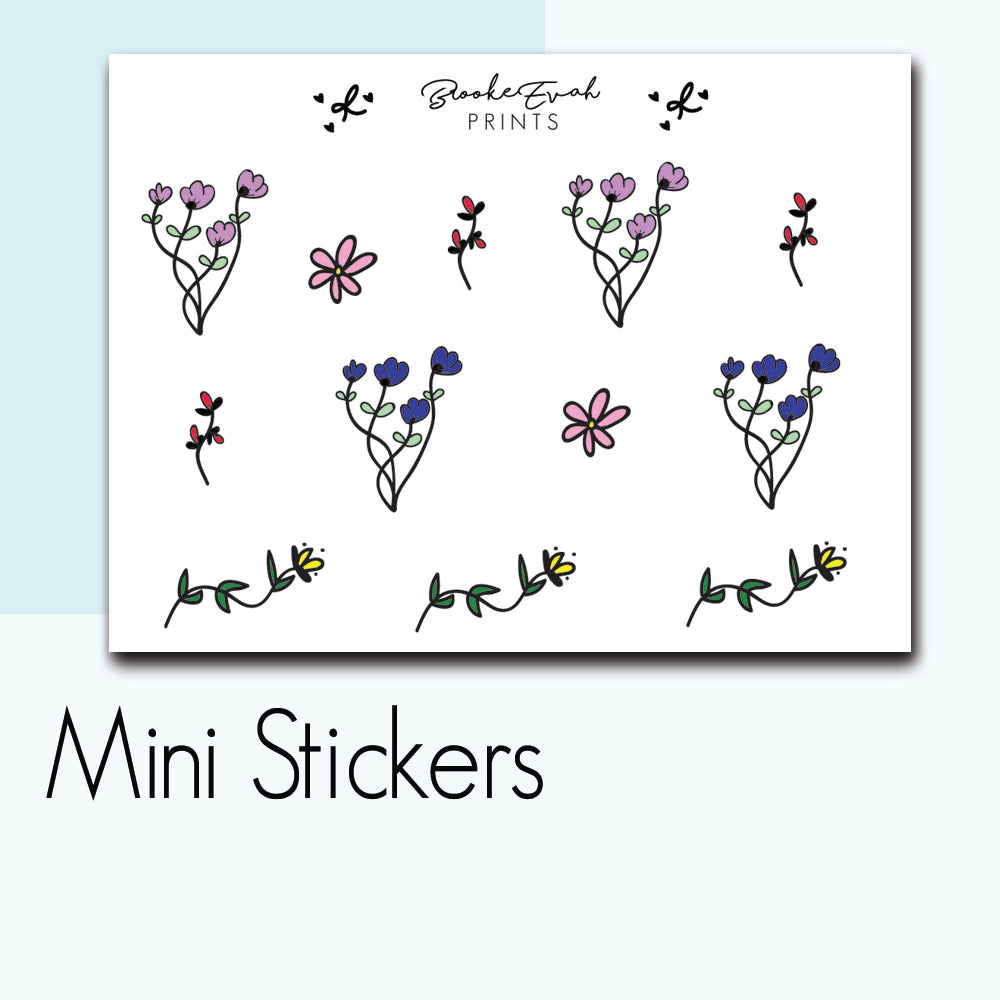 Mini Floral Stickers-  BEPM90
