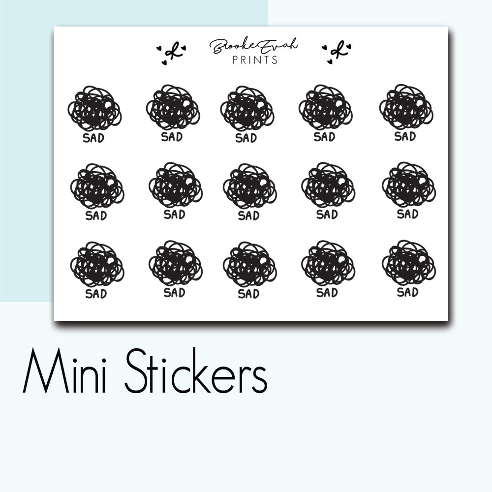Mini Sad Stickers-  BEPM91