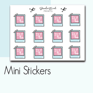Mini Love Polaroid Stickers-  BEPM92
