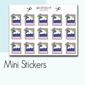 Mini Beach Polaroid Stickers-  BEPM93