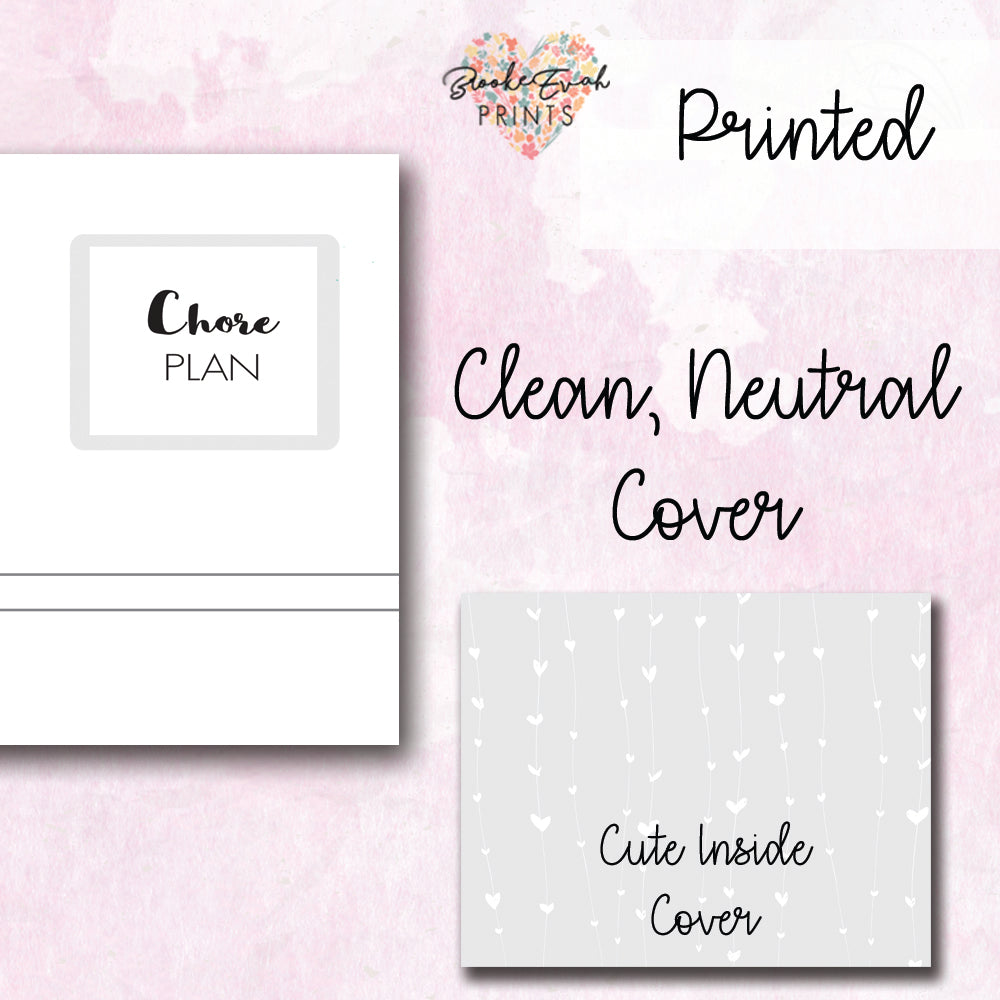 Neutral Chore Planner - BrookeEvahPrints