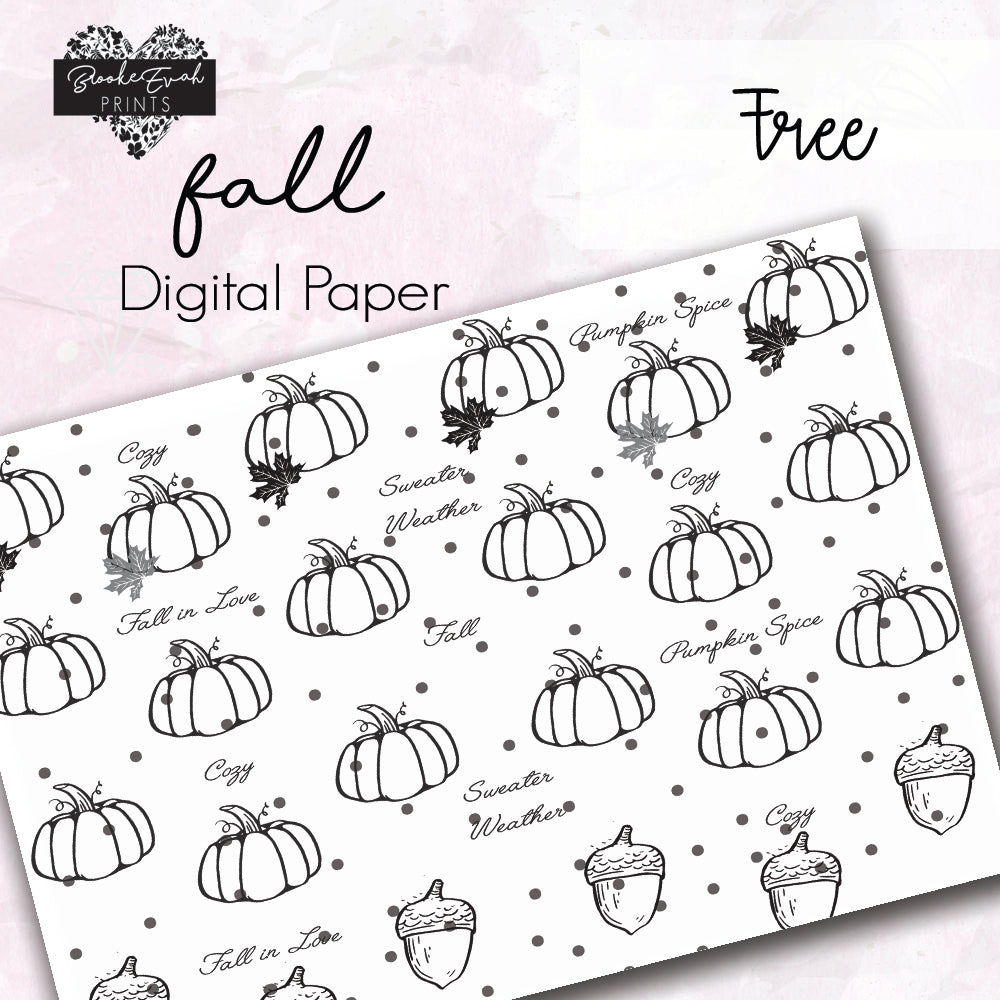 FREE Fall Inspired Paper - BrookeEvahPrints