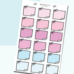 Pastel Sticky Note Doodles- H01 - BrookeEvahPrints