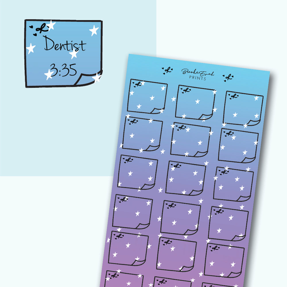 Galaxy Sticky note Stickers- H21 - BrookeEvahPrints