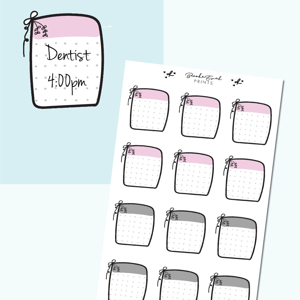 Sticky Note Planner Stickers- H24