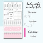 Hobonichi Weeks Kit- Bows & Hearts, HK002 - BrookeEvahPrints