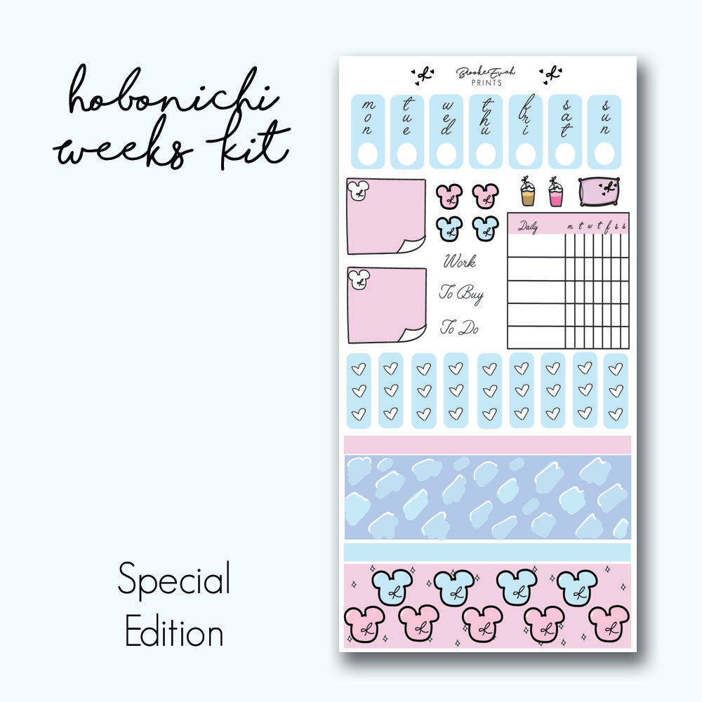 Hobonichi Weeks Kit- Mickey HK007 - BrookeEvahPrints