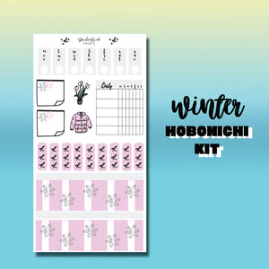 Winter Hobonichi Weeks Sticker kit- hk013