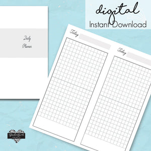 Printable Hobonichi Weeks Daily Grid - BrookeEvahPrints