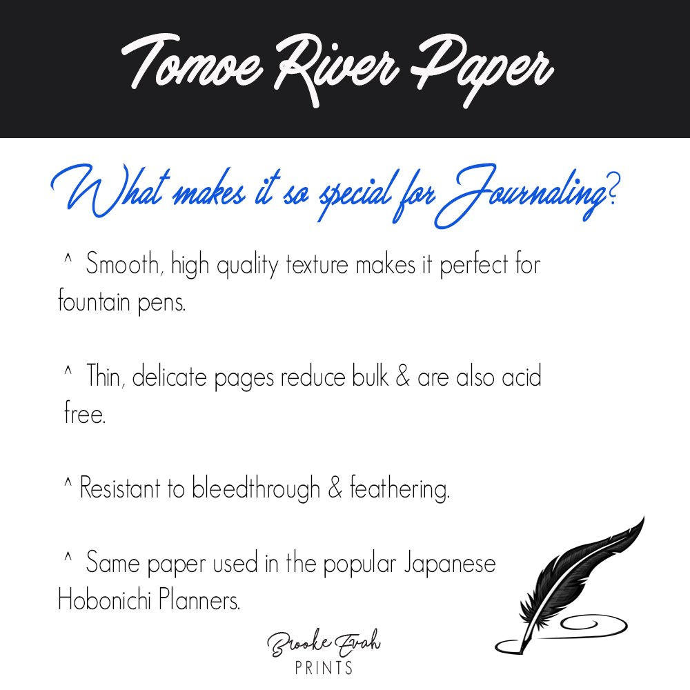 Tomoe River Paper Insert - BrookeEvahPrints