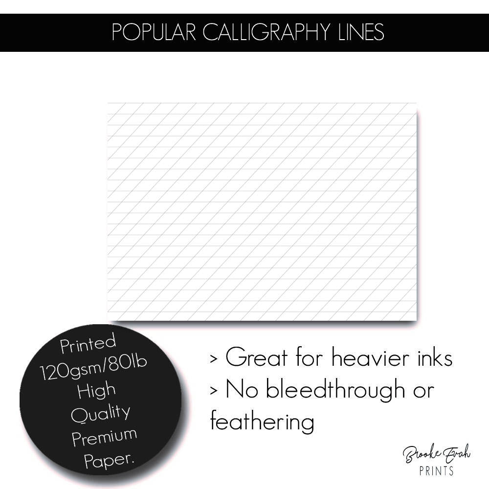 Calligraphy Notebook - BrookeEvahPrints