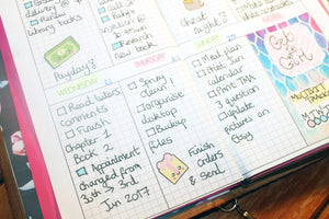 Weekly Planner - Grid - BrookeEvahPrints