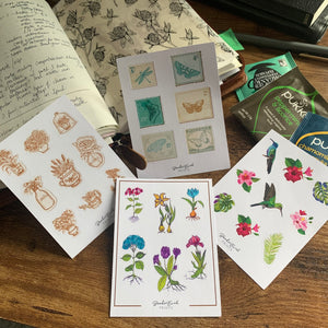Vintage Humming Bird Collection Stickers