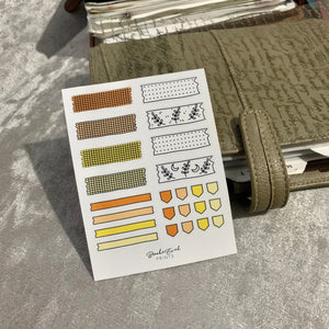 Washi Strip Stickers - Functional