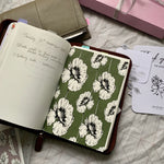 Printed Tomoe River Paper Planner Dashboards- Floral Forest Green