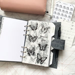 Printed Vellum X Acetate Planner Dashboard- Forever Free Butterflies