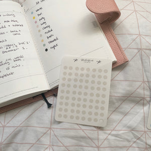 Transparent Dot Planner Stickers