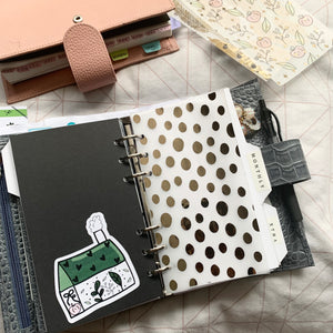 Printed Vellum Planner Dashboards - Abstract Dots