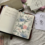 Printed Vellum Planner Dashboards - Floral Holo Clear