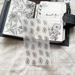 Printed Vellum Planner Dashboards Set of 4