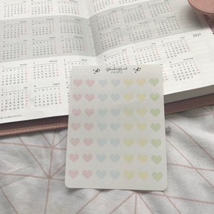 Transparent Heart Stickers